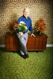 blommamanpensionär Royaltyfri Foto