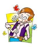 blommamanwhite stock illustrationer