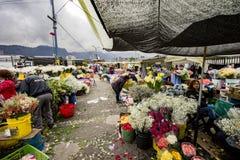 Blommamarknad i Paloquemao Bogota Colombia Royaltyfria Foton