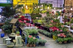 Blommamarknad i Taipei Arkivbild