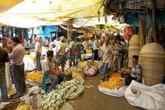 Blommamarknad, Kolkata, Indien Arkivbild