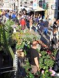 Blommamarknad, Milano Arkivfoton