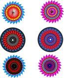 Blommamodell vektor illustrationer