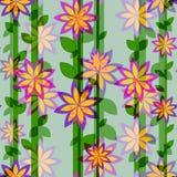 Blommamodell och vertikala linjer Royaltyfri Fotografi