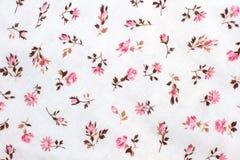 Blommamodell på bomullstyg Royaltyfri Fotografi