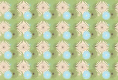 blommamodellfjäder Royaltyfri Fotografi