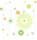 blommamodellfjäder Royaltyfri Bild
