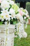 blommamottagandebröllop royaltyfria foton