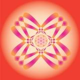 Blomman av liv kärnar ur fjädrar upplagamandala-bruk för design och mig Arkivbild