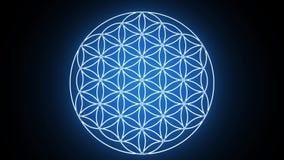 Blomman av liv som bildar sakralt geometrisymbol royaltyfri illustrationer