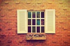 blomman lägger in fönstret Arkivbilder