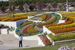 Blomman parkerar i Dubai (den Dubai mirakelträdgården) förenade arabiska emirates Arkivfoto