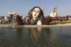 Blomman parkerar i Dubai (den Dubai mirakelträdgården) förenade arabiska emirates Royaltyfria Foton