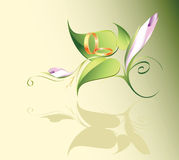 blomman ringer bröllop Arkivbild
