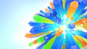 Blommande mineralisk kristall stock illustrationer