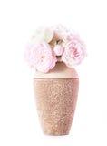 Blommande rosor i vas Royaltyfri Foto