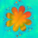 blommaorange Royaltyfri Foto