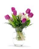 Blommaordning med tulpan Arkivbild