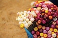 Blommapapper i korgen Royaltyfri Bild