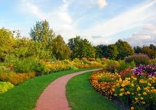 blommapark Arkivfoton
