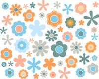 Blommapastell, vektorillustration royaltyfri illustrationer
