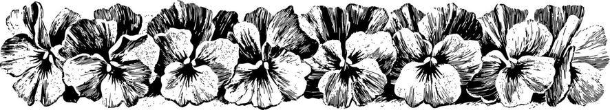 blommaprydnad stock illustrationer