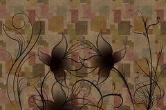 blommaprydnadar Arkivfoton