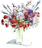 blommar akvarell Royaltyfri Fotografi