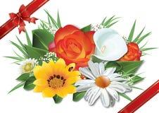 Blommar bakgrund, vektorillustration Arkivfoto