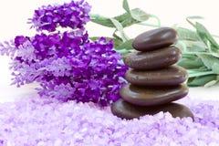 blommar brunnsortstenar Royaltyfri Fotografi