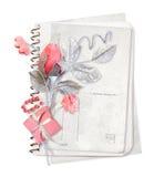 blommar den gammala paper bunten Royaltyfri Foto
