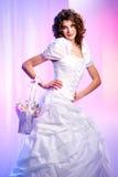 blommar den härliga bruden för korgen fjädern Royaltyfri Fotografi