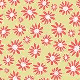 Blommar den orange gerberaen för vektorn sömlös modellbakgrund Tusenskönor på en neutral bakgrund vektor illustrationer