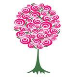 blommar den röda treen Royaltyfri Bild