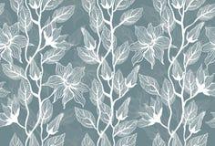 blommar den seamless texturvektorn Royaltyfri Foto
