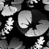 blommar den stylized vallmon Arkivbild