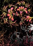 blommar det gotiska plakatet Royaltyfri Fotografi