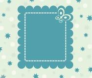 blommar det lugnaa kortet för fjärilen retro Royaltyfri Foto