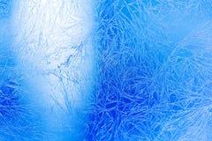 Is blommar djupfryst fönstermakrosikt Frost texturerad modell kallt begrepp för bakgrund för vinterväderxmas arkivbild
