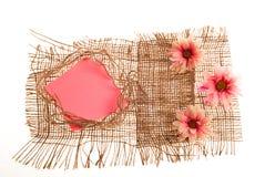 blommar etiketter Royaltyfri Fotografi