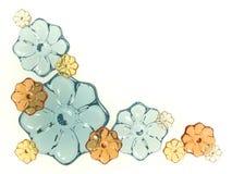 blommar exponeringsglas Royaltyfri Illustrationer