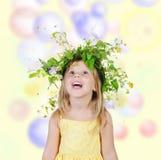blommar flickakranen arkivbild