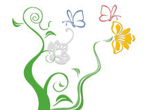 blommar fractal Arkivbilder