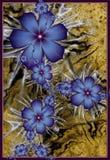 blommar fractalpurple Arkivfoton