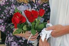 blommar garterbröllop Royaltyfri Fotografi