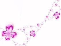 blommar girlanden Arkivbilder