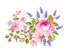blommar girlandfjädern Arkivfoton