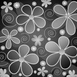 blommar grå white royaltyfri illustrationer