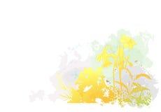 blommar grungefjädern vektor illustrationer