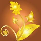 blommar guld- Arkivfoto
